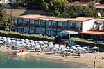 Hotel on the beach on Elba Island.