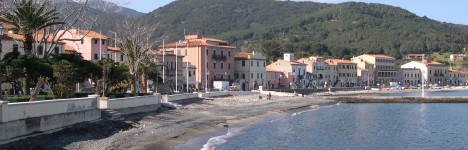 Restaurants on the island of Elba on seaside